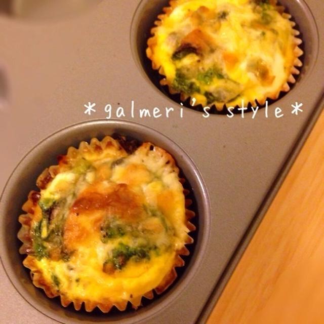トースターで簡単に!ベーコンと菜の花のキッシュ〜お弁当用
