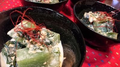 【レシピ】3分★簡単★サッパリ【刺身こんにゃくとワカメの味噌マヨ胡麻ダレ】