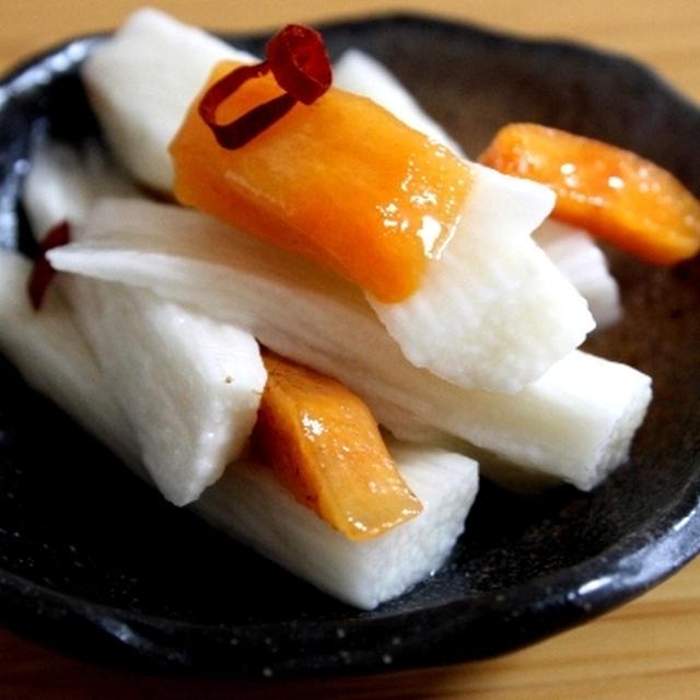 長芋と柿の塩麹漬け