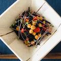 発芽ひよこ豆とひじきの煮物サラダ