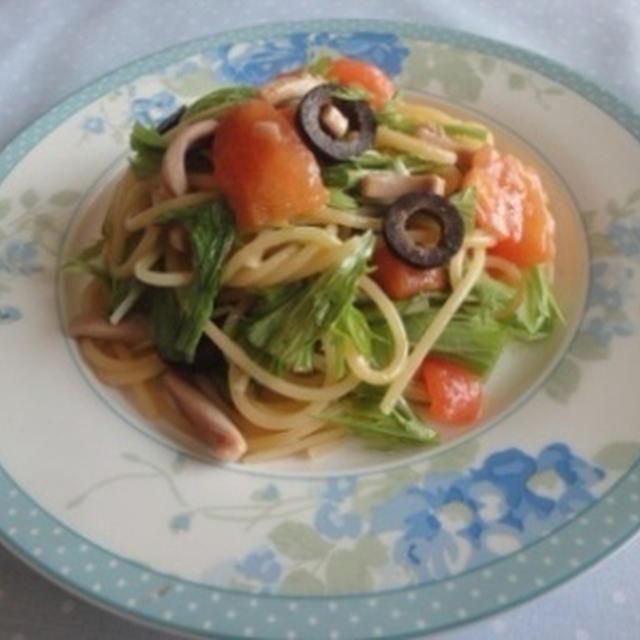 塩辛トマトパスタ