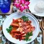 揚えびのタマリンドソース@甘酢最高美味★タイでも桜咲く。