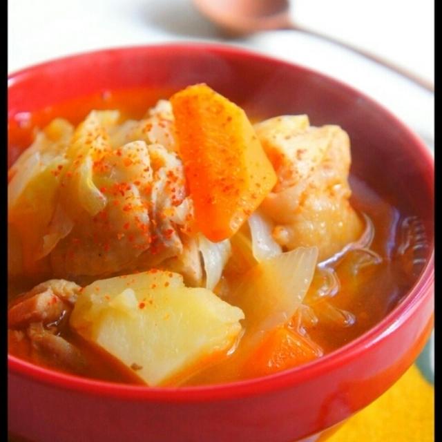 簡単 [食べるスープでおかずにすらなる!] 辛鶏汁 と 嗚呼、言われ放題…