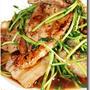 豚ばら肉と豆苗の豆板醤炒め ...... 醤油ベースの中華風ぴり辛炒めです ♪