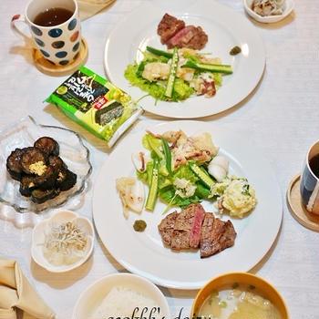 【和食】初出勤日はステーキに/Tenderloin Steak in Japanese style