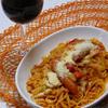 たっぷりキャベツでヘルシーなトマトスパゲティ