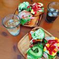 デニッシュパンでアボカド・トマトのオープンサンド