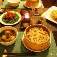 出汁が決め手♪ザーサイと干し海老の中華風炊き込みご飯