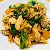 肉野菜炒め トムヤム風味