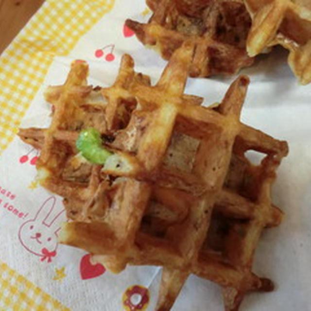 ☆玉ねぎと枝豆のワッフル〜☆