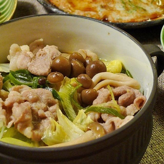 鍋ちゃんネギと豚肉の柚子胡椒煮☆
