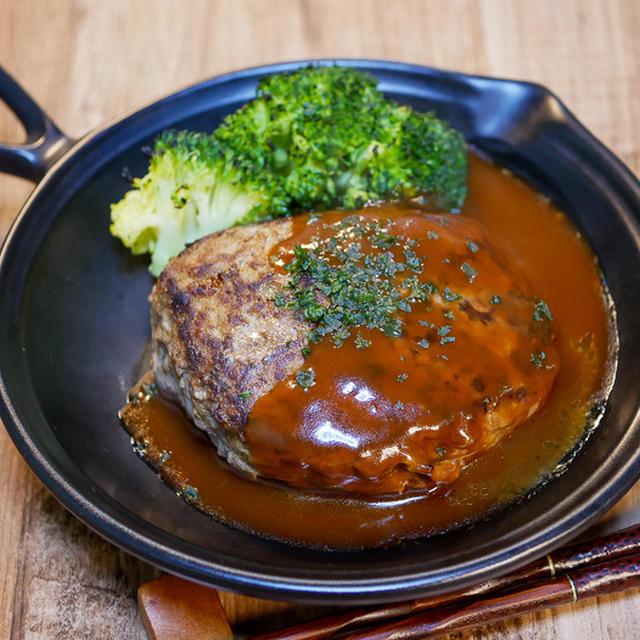 我が家の基本の「デミソースハンバーグ」&「蕎麦処 げん」で天ざる&天丼