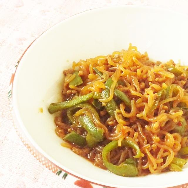 しらたきの中華風ピリ辛炒め煮