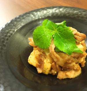 食材2つで★お豆腐と豚コマのマヨ照り焼き*節約*簡単