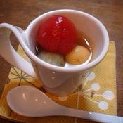 野菜入り豆腐白玉(五香粉シロップ)