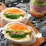 豚バラの照り焼きサンド。和風味のサンドイッチもたまにはいかが?