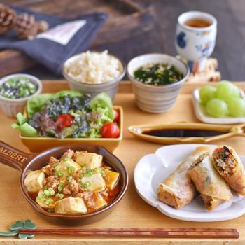 麻婆豆腐の朝ごはんと  ✻ ぶどうの販売戦略
