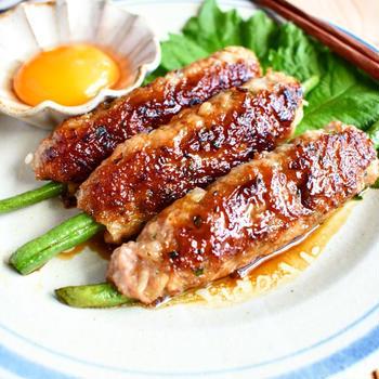 『らでぃっしゅぼーや』の新鮮野菜で【シャキうま*いんげんの豚しそつくね】と【メンチカツ】