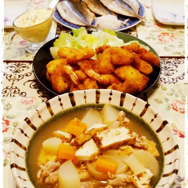 煮物とエビ&お魚フライなど♪