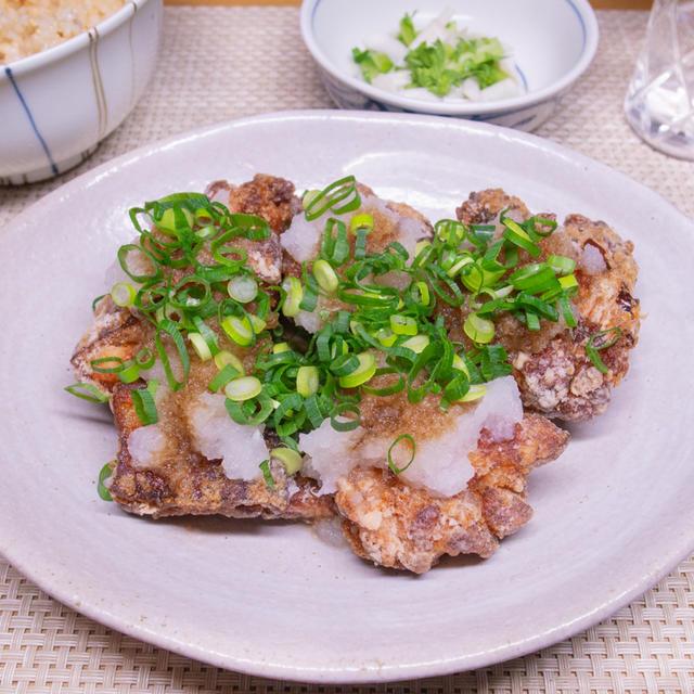 鶏竜田揚げのおろしポン酢