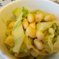豆とキャベツのカレーマヨサラダ