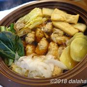 【レシピ】 レンコン入り鶏団子鍋 レンコン・ジャガイモ・大根の食感が心地よい冬の根菜鍋のレシピ