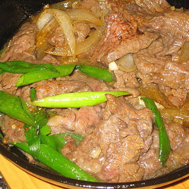 スキレット焼き肉 & タジン蒸し野菜