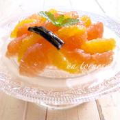 グレープフルーツと夏みかんのバニラマリネ