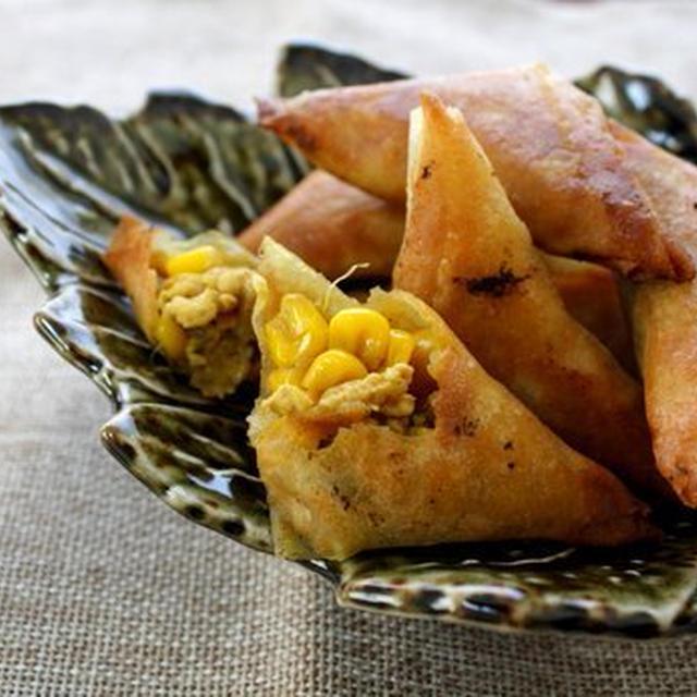 夏野菜と鶏肉のサモサ