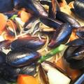 きのうのおつまみ  しゅうり貝のにんにくバタースパゲティ