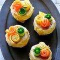 お揚げがじゅわん♥サーモン、きゅうり、卵の花畑いなり【#簡単 #行楽 #母の日】 by 青山 金魚さん