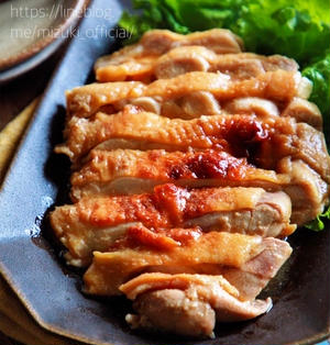 ♡レンジde6分♡味噌鶏チャーシュー♡【#簡単レシピ#時短#節約#鶏むね肉#鶏もも肉】