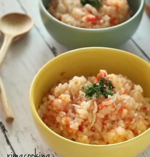 トマトとしらすの炊き込みご飯