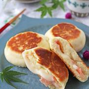 ホットケーキミックスで朝ごはん!フライパンで簡単ベーコンチーズおやき