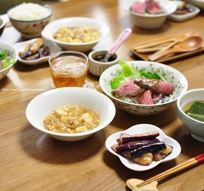 兄さんリクエストの麻婆豆腐で晩ごはん~