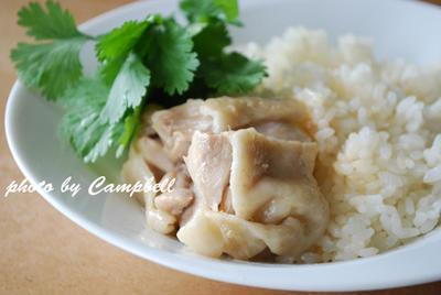 ル・クルーゼで炊く海南鶏飯