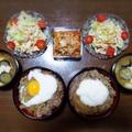 【家ごはん】 牛丼の献立♪ [レシピ] 切干大根 / 牛丼