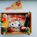 【キャラ弁】スヌーピー年賀状風弁当 by とまとママさん