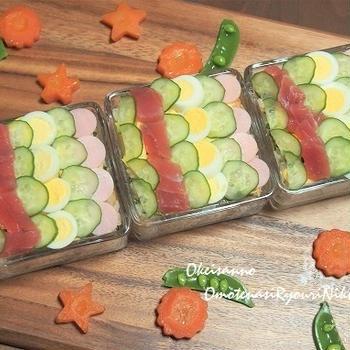 鯉のぼり寿司♪  &クックパッド人気検索トップ10入り!あっさり美味♪細切り大根の豚肉巻き