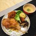 ローストチキンと一緒にコーンスープ by ドルフの美味しい家庭料理さん