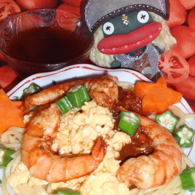 中華風トマ玉冷麺&キュウリとみょうがのレモンサラダ(お家カフェ)