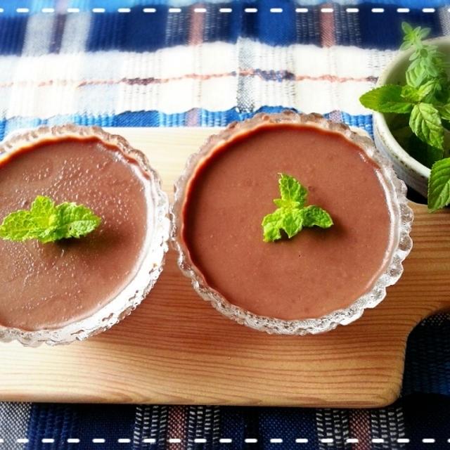 本日パンパカパ~んは仕込み中~♡ちょっとその前に・・・チョコレートムースで甘味補給(*´з`)