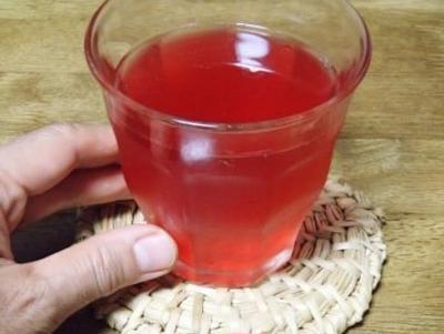 夏バテ予防の赤紫蘇ジュース作り