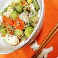 ゴーヤの代わりに芽キャベツで豆腐ちゃんぷるー