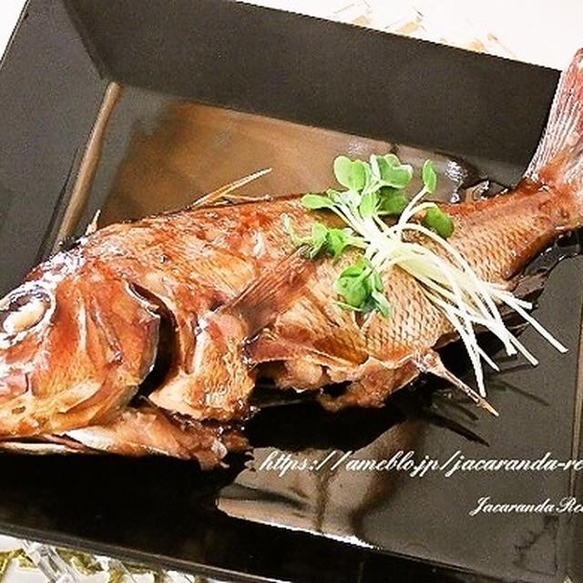 茨城県産の新鮮活魚で♪【鯛の煮付け】