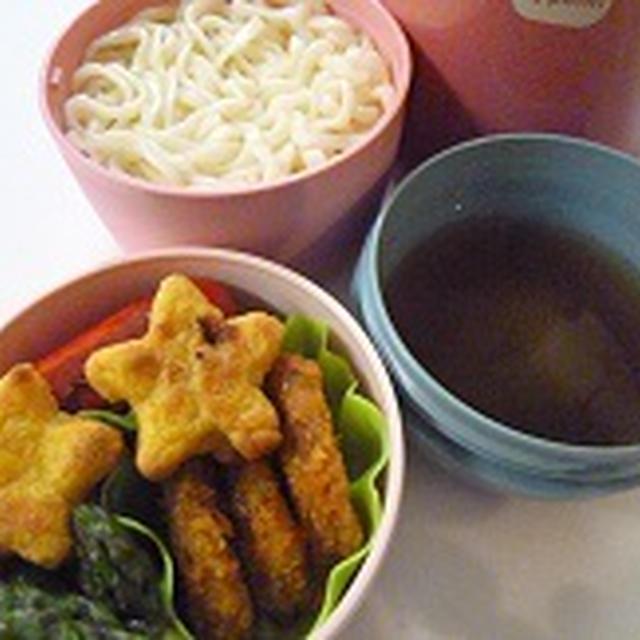 ざるうどんのお弁当 焼きドdeシュー♪♪  飾り巻き寿司レッスン6月