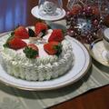 クリスマスケーキはやっぱりイチゴデコレーション
