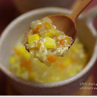 サルバチア入り プチプチ食べるコーンスープ