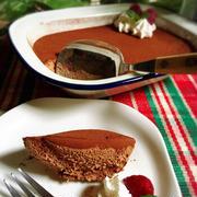 簡単!ゼラチン無しのチョコムースのスコップケーキ