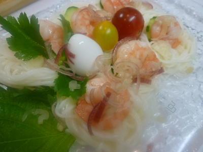 薬味たっぷり夏素麺☆